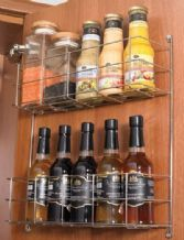 DEEP SPICE / JAR RACK - 2-Tier to suit 500mm wide cabinet door (ECF WWSYM2)